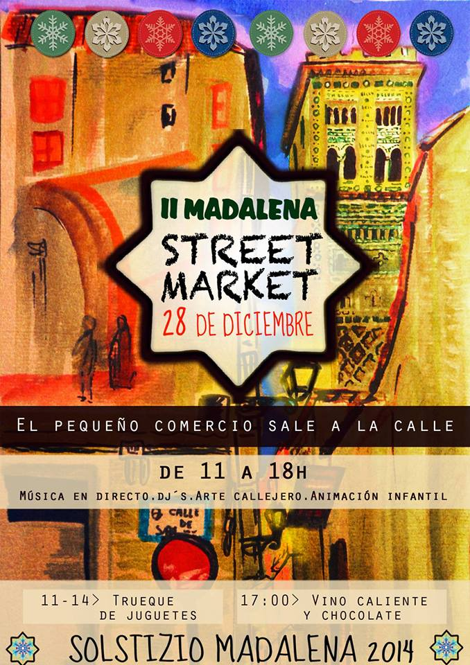 El pequeño comercio de la Madalena sale a la calle