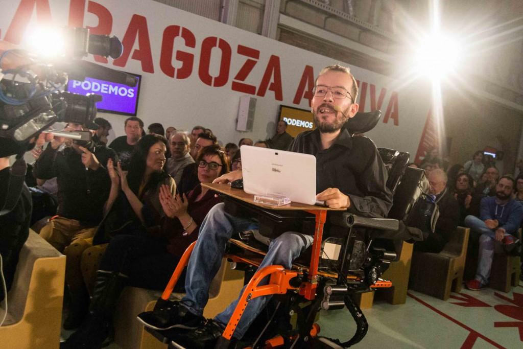 Echenique será el cabeza de lista de 'Juntas y juntos por Aragón', la única agrupada en las primarias aragonesas de Podemos