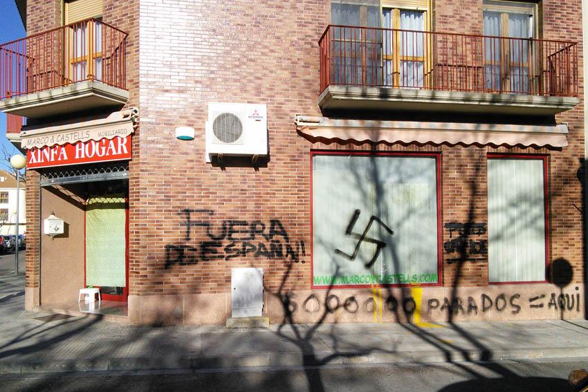 Detienen en Zaragoza a uno de los responsables de una de las páginas web neonazis «más influyentes» a nivel mundial