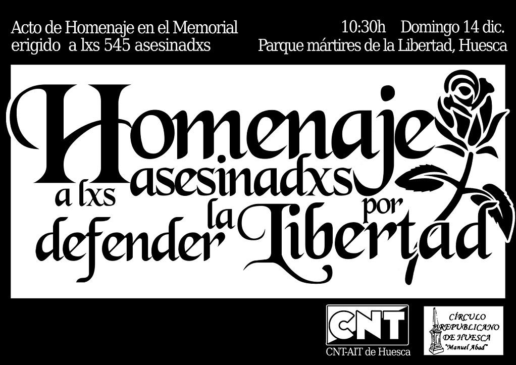"""Con la inauguración del """"Parque Mártires de la Libertad"""" Uesca rinde homenaje a las víctimas del franquismo"""