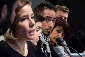Un momento de la rueda de prensa del pasado martes en Barcelona. Foto: Enric Catalá (La Directa)