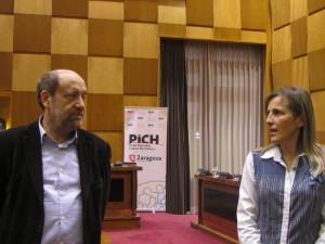 José Manuel Alonso y Ana Sanromán durante el Consejo