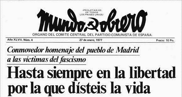 IU Aragón se suma al recuerdo de las víctimas de la matanza de Atocha