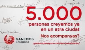 Ganemos Zaragoza reculle 5.000 sinyaturas