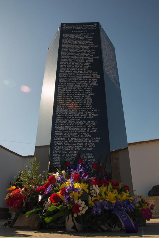 Solicitan al ayuntamiento de Calatayud que se incluyan en el Memorial los nombres de todas las personas asesinadas por el franquismo en la comarca