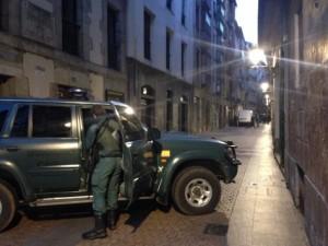 Operación de la guardia civil en Bilbo. Foto: Bilboko Uriola