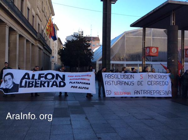 Movilización en Madrid en protesta por la sentencia contra 'Alfon'