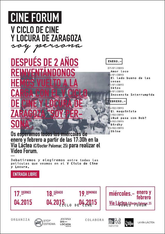 """Vuelve a Zaragoza el ciclo de Cine y Locura """"Soy Persona"""""""