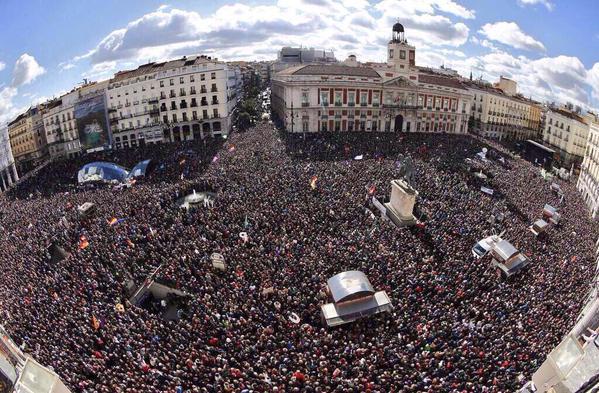 Demostración de fuerza de Podemos en Madrid