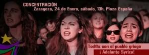 Cartel de la convocatoria de este sábado en Zaragoza.