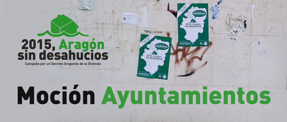 La campaña 'Aragón Sin Desahucios' coge fuerza con la presentación de mociones en ayuntamientos