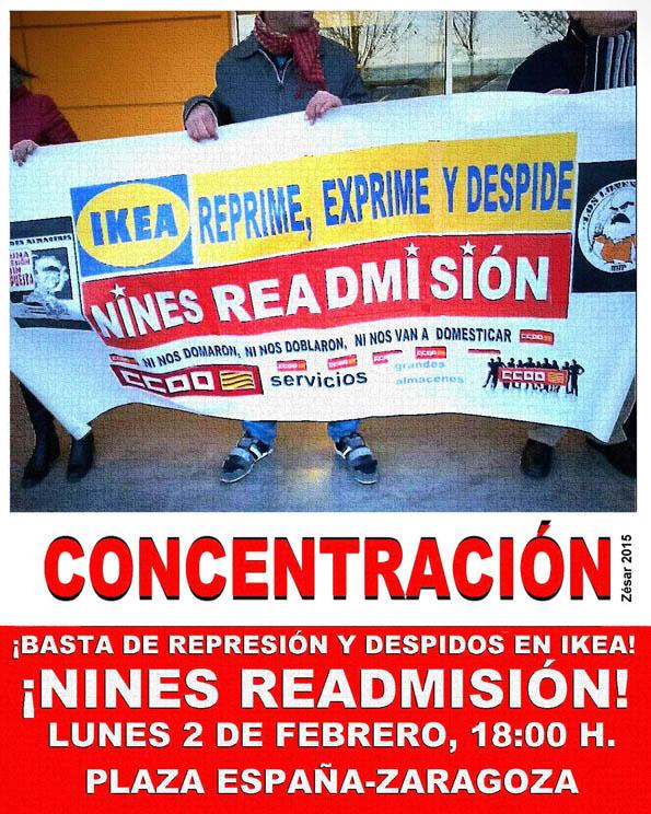 Nueva concentración en Zaragoza por la readmisión de la trabajadora de IKEA despedida