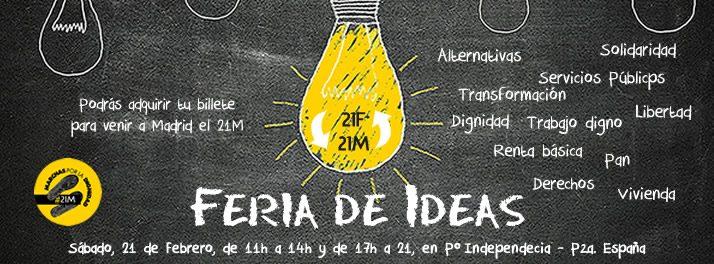 """Las Marchas por la Dignidad de Aragón organizan una nueva """"Feria de Ideas"""" en Zaragoza"""