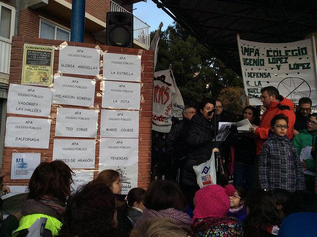 """Marea Verde Aragón apoya la campaña """"Ningún niño y niña fuera de su barrio"""""""