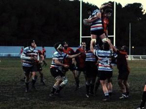 La delantera del Fénix fue protagonista ayer. Foto: @rugbyfenix