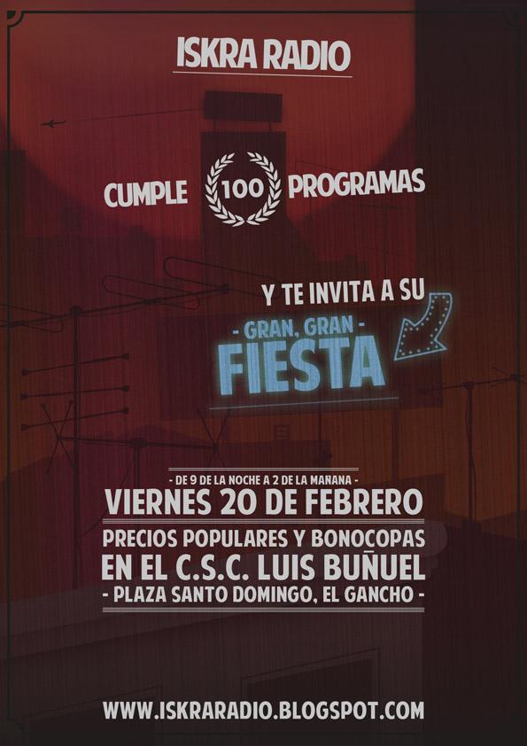 Iskra Radio celebra su programa 100 con una gran fiesta el 20 de febrero