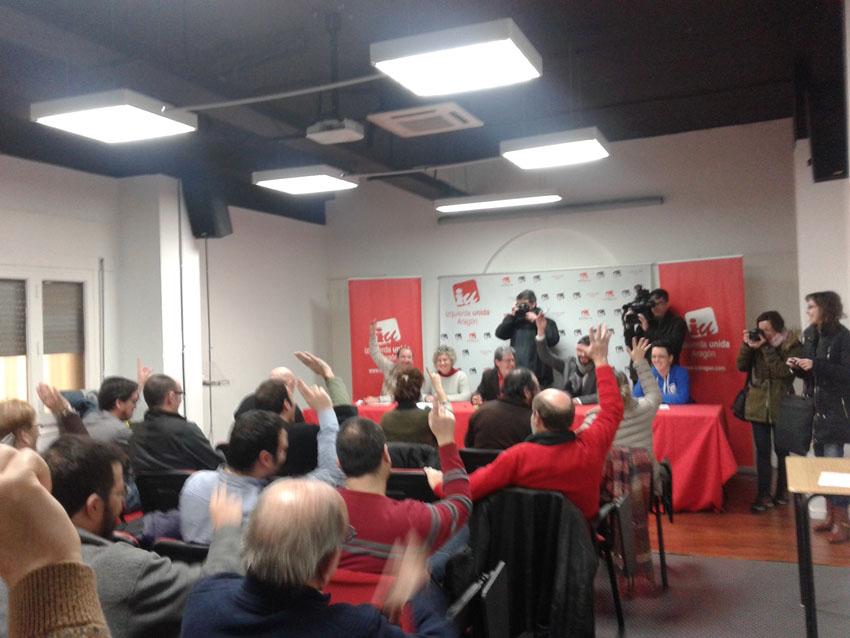 El Consejo Político de IU Aragón refrenda el apoyo a los procesos de confluencia como Ganemos