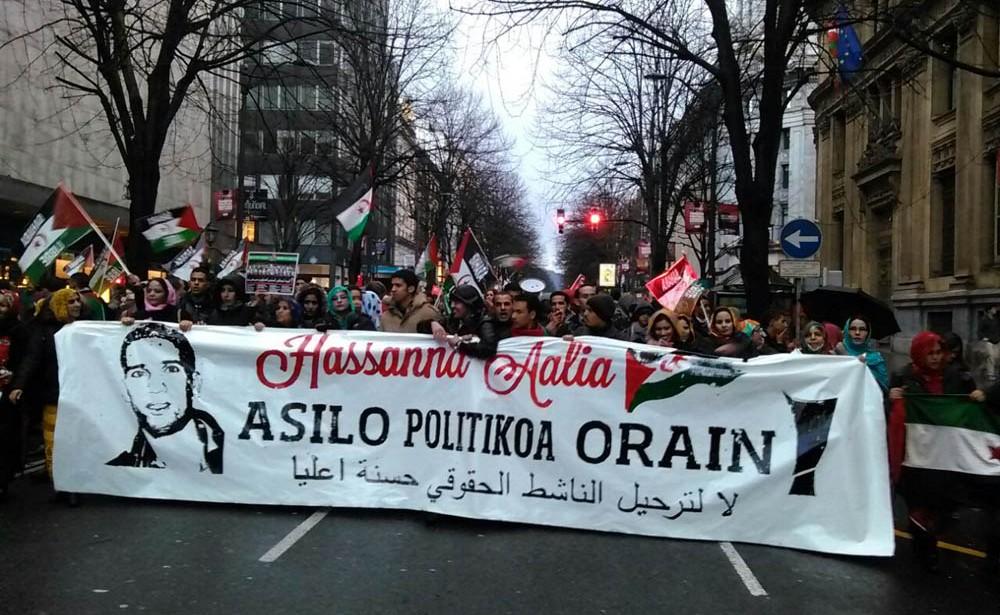 Una huelga de hambre y una manifestación piden asilo político para Hassanna Aalia