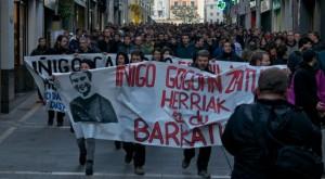Manifestación en Iruñea de repulsa por el asesinato de Cabacas. Foto: Ekinklik