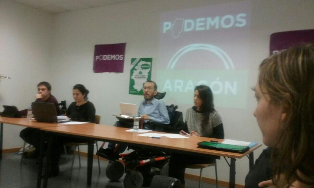 Pablo Echenique junto a ocho personas conformarán la dirección de Podemos en Aragón
