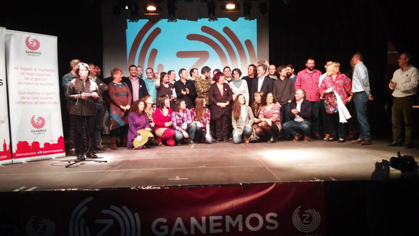 Esperanza e ilusión en la presentación de las y los candidatos de Ganemos Zaragoza