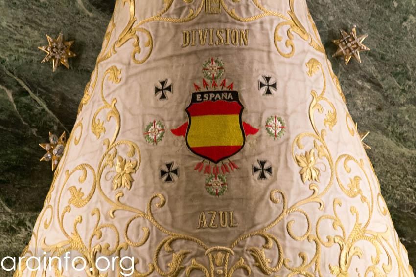 Exigen que los mantos de la Virgen de Falange y la División Azul sean retirados a perpetuidad