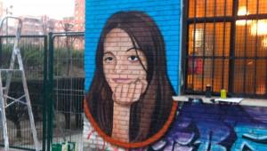 """Mural en recuerdo a Yolanda González. Foto: CSA """"La Caba"""""""