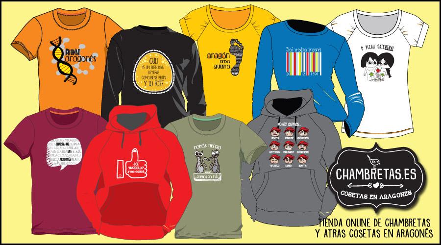 Chambretas.es, las camisetas que se unen a la defensa del uso del aragonés