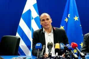 Yanis Varoufakis durante una reunión con el Eurogrupo.
