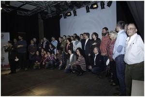 Las y los candidatos durante el acto de presentación del pasado viernes. Foto: Primo Romero