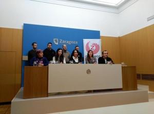 Acto de la firma del compromiso. Foto: Ganemos Zaragoza