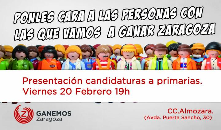 Ganemos Zaragoza celebra un acto de presentación de sus candidaturas