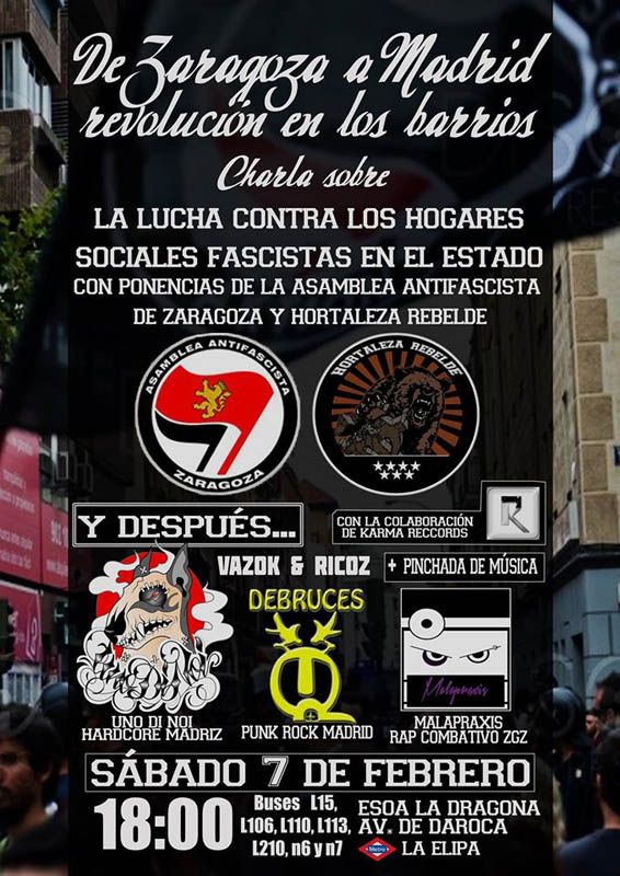 """""""De Zaragoza a Madrid, revolución en los barrios"""""""