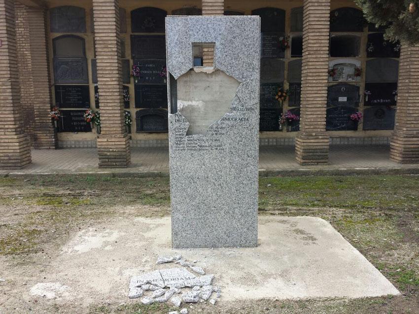IU preguntará en la DPZ por el ataque al monolito en memoria de los republicanos caídos en el cementerio de La Cartuja