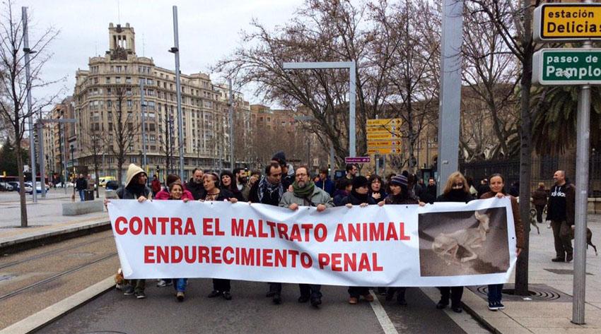 Amnistía Animal convoca una concentración en Zaragoza en contra del maltrato