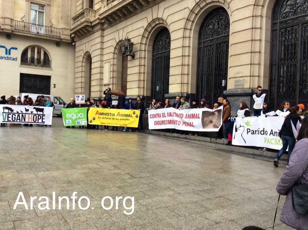 Concentraciones en Madrid, Zaragoza y Santiago de Compostela contra el macromatadero de Binéfar