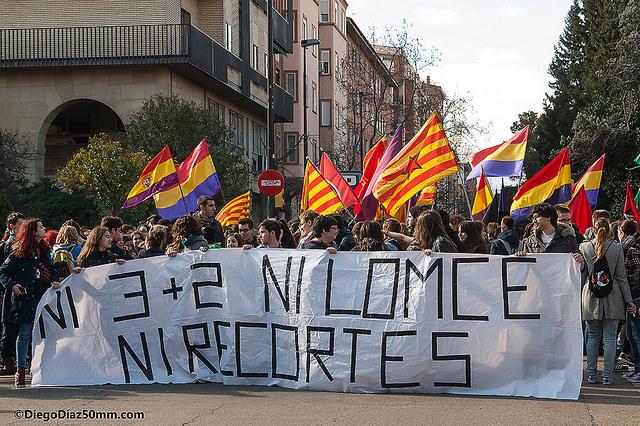 Aragón vuelve a la calle contra el 3+2 y la LOMCE
