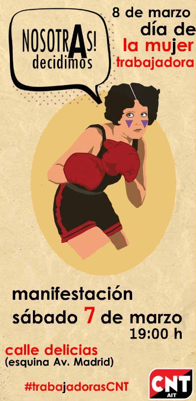 Manifestación de CNT por el día de la Mujer Trabajadora