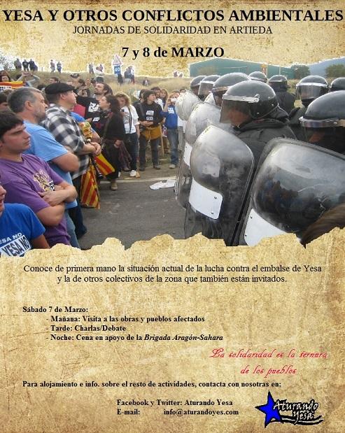 Aturando Yesa Artieda Cartel Jornadas 7 Marzo