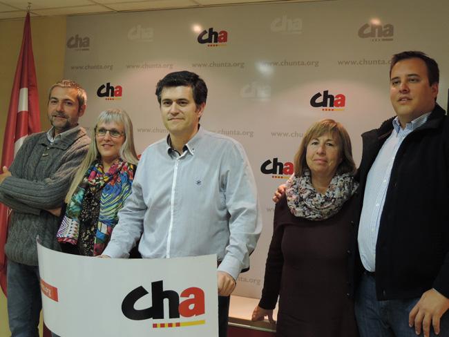 """CHA presenta a sus cabezas de lista para las aragonesas afirmando ser de """"izquierda sin ambigüedades"""""""
