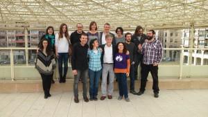 Las y los candidatos de Zaragoza en Común. Foto: AraInfo