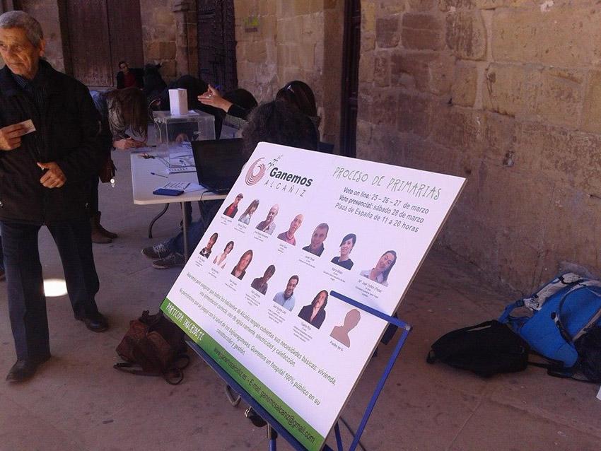 Concluye el proceso de primarias en 'Ganemos Alcañiz'