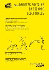 """La 'Universidad de la Plaza' de Uesca presenta su nuevo ciclo para 2015 """"Debates sociales en tiempos electorales"""""""