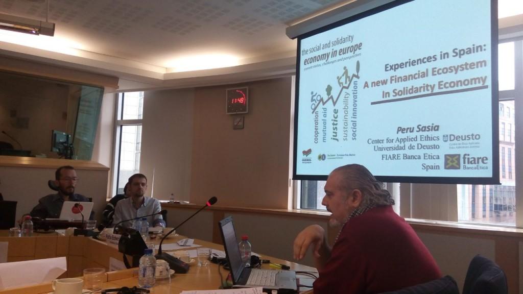 La Economía Social y Solidaria se reivindica en una conferencia en el Parlamento Europeo