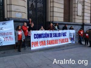 Concentración ayer en Zaragoza.