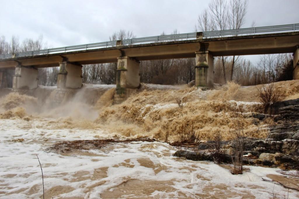 Las intensas lluvias obligan a la DGA a activar el nivel 2 del Plan de Inundaciones