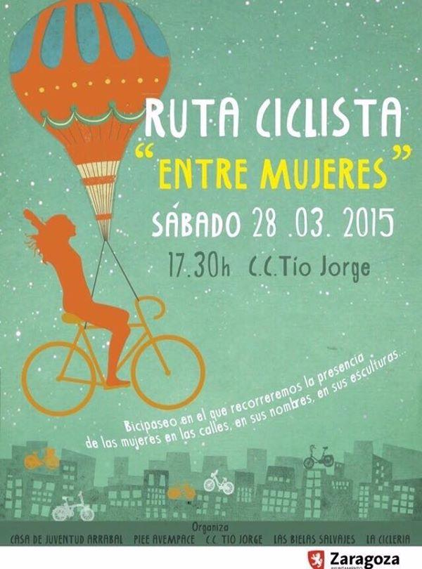 Ruta ciclista «entre mujeres» por Zaragoza con Las Bielas Salvajes