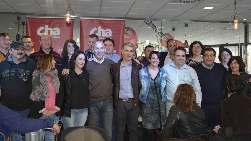 Juan Martín, candidato de CHA, presenta su lista a la alcaldía de Zaragoza