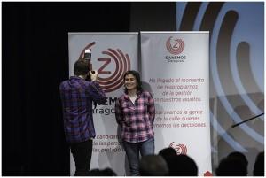 Luisa Broto, durante la presentación de las candidaturas. Foto: Primo Romero
