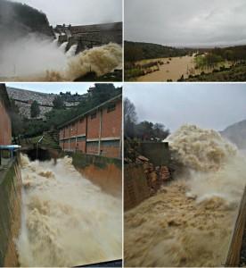 Desembalse del Guadalop en la presa de Calanda. Fotos: Juanma Bernad
